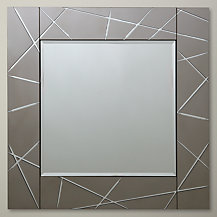 John Lewis Smoke Engraved Mirror