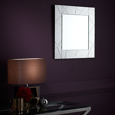 Buy John Lewis Smoke Engraved Mirror, 50 x 50cm Online at johnlewis.com