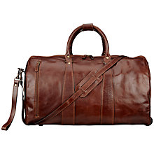 Buy John Lewis Firenze Medium Leather Holdall, Tan Online at johnlewis.com