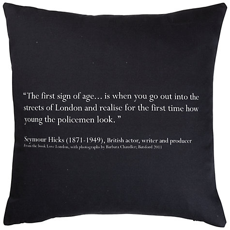 Buy Barbara Chandler Love London Police Helmet Cushion Online at johnlewis.com