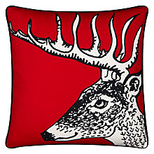 Buy Borderline Deer Cushion, Red Online at johnlewis.com