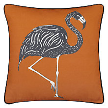 Buy Borderline Flamingo Cushion, Orange Online at johnlewis.com
