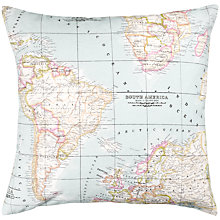 Buy John Lewis Maps Cushion, Blue Online at johnlewis.com