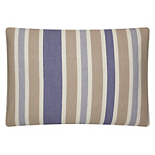 Buy John Lewis Walkabout Stripe Cushion, Blue Multi Online at johnlewis.com