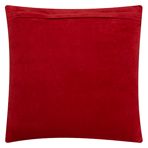 Buy John Lewis Bloom Cushion, Red Online at johnlewis.com
