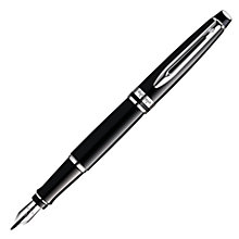 Buy Waterman Expert Fountain Pen, Chrome/Black Online at johnlewis.com