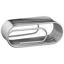 Buy Design Ideas Paperclip Note Holder, Silver Online at johnlewis.com