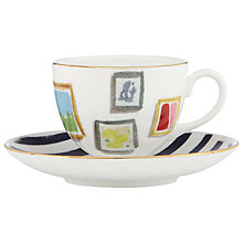 Buy kate spade new york Illustrated Salan Wall Cup and Saucer Set Online at johnlewis.com