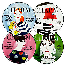 Buy kate spade new york Make Headlines Tidbit Plates, Set of 4 Online at johnlewis.com