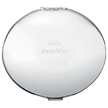 Buy kate spade new york Silver Street Hello Sunshine Compact Mirror Online at johnlewis.com