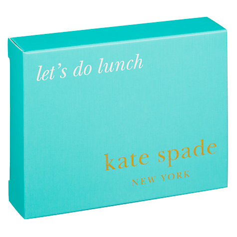 Buy kate spade new york Silver Street Let's do Lunch Business Card Holder Online at johnlewis.com