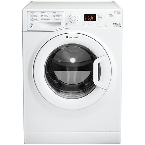 Buy Hotpoint WDPG9640P Washer Dryer, 9kg Wash/6kg Dry Load, A Energy Rating, 1400rpm Spin, White Online at johnlewis.com