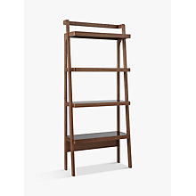 Buy John Lewis Gazelle Bookcase, Walnut Online at johnlewis.com