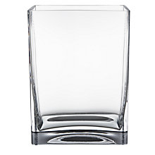 Buy LSA International Flower Rectangular Bunch Vase, Clear, H22cm Online at johnlewis.com