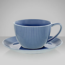 Buy John Lewis Horizon Fluted Teacup and Saucer Online at johnlewis.com