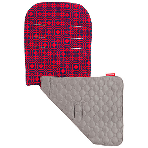 Buy Maclaren Chain Link Reversible Seat Liner, Grey/Red Online at johnlewis.com