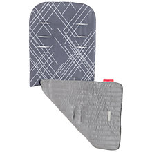Buy Maclaren Engraved Argyle Reversible Seat Liner, Charcoal Online at johnlewis.com