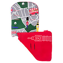 Buy Maclaren London City Map Reversible Seat Liner, Multi/Red Online at johnlewis.com