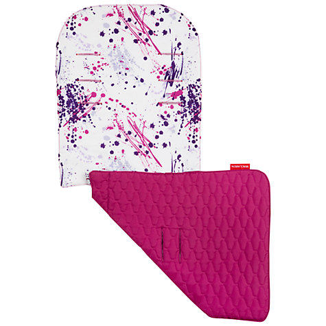 Buy Maclaren Paint Splatter Reversible Seat Liner, Pink/Purple Online at johnlewis.com