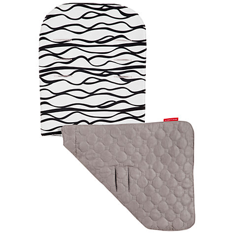 Buy Maclaren Waves Reversible Seat Liner, Black/White/Grey Online at johnlewis.com