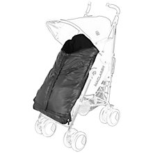 Buy Maclaren Expandable Footmuff, Black Online at johnlewis.com