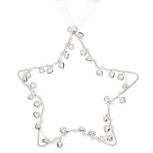 Buy John Lewis Bell Star Decoration, Silver Online at johnlewis.com