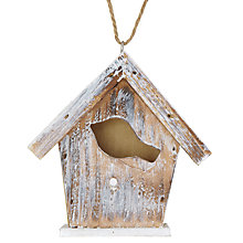 Buy John Lewis Bird House Decoration, Natural Online at johnlewis.com