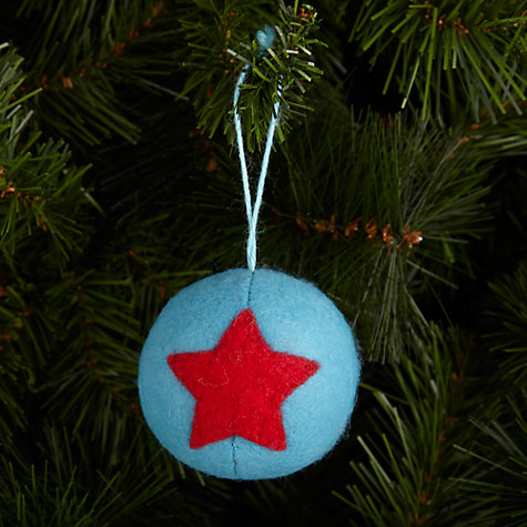 Buy John Lewis Boiled Wool Bauble, Blue Online at johnlewis.com