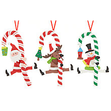 Buy John Lewis Candy Cane Decoration, Assorted Online at johnlewis.com