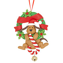 Buy John Lewis Dog with Bell Decoration Online at johnlewis.com