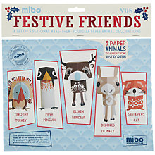 Buy Mibo Festive Friends Christmas Decorations, Multi Online at johnlewis.com