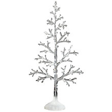 Buy John Lewis Frosted Acrylic Tabletop Tree, White Online at johnlewis.com