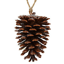 Buy John Lewis Frosted Pinecone Decoration, Natural Online at johnlewis.com