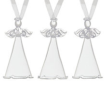 Buy John Lewis Glass Angel, Assorted Online at johnlewis.com