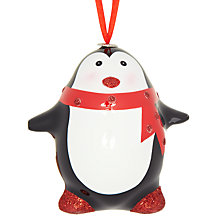 Buy John Lewis Glossy Penguin Tree Decoration Online at johnlewis.com