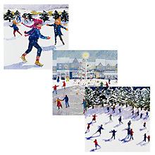 Buy Ling Design Skaters Christmas Cards, Box of 12 Online at johnlewis.com
