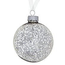 Buy John Lewis Mercurised Glass Bauble, Silver Online at johnlewis.com