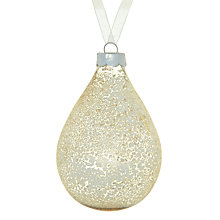 Buy John Lewis Mercurised Teardrop Glass Decoration, Silver Online at johnlewis.com