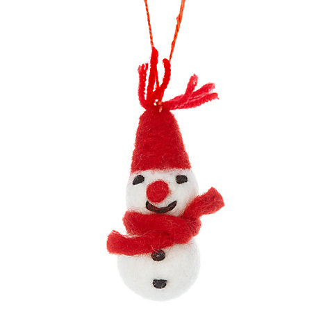 Buy Felt So Good 5 Mini Snowmen In Organza Bag Online at johnlewis.com