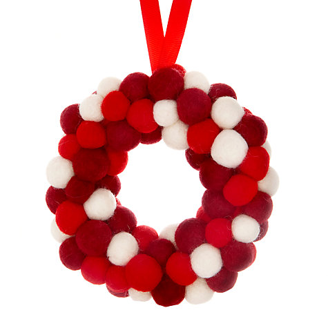 Buy Felt So Good Soft Mini Wreath, Red/White Online at johnlewis.com