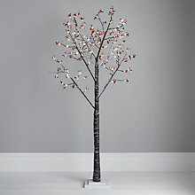 "Buy John Lewis Prelit Red Berry Christmas Paper Tree, 6ft 8"" Online at johnlewis.com"