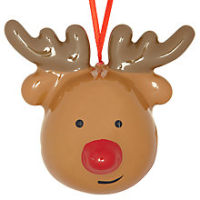 Buy John Lewis Reindeer Head Tree Decoration Online at johnlewis.com