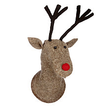 Buy Scandi-chic Reindeer Head Wall Decoration Online at johnlewis.com