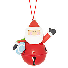 Buy John Lewis Santa Bell Tree Decoration Online at johnlewis.com