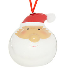 Buy John Lewis Santa Head Tree Decoration Online at johnlewis.com