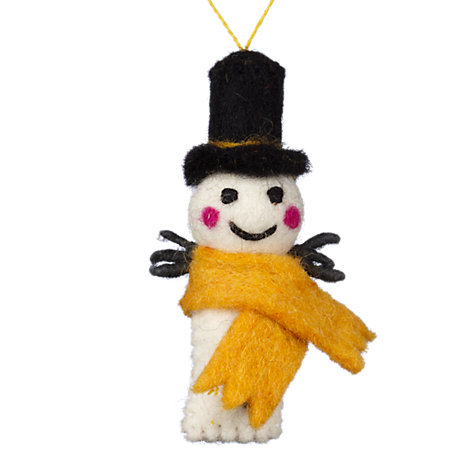 Buy Felt So Good Snowman With Scarf Decoration, Assorted Online at johnlewis.com