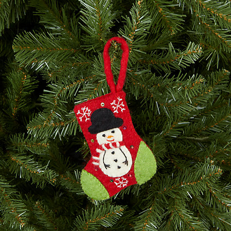 Buy Felt So Good Stocking With Snowman Tree Decoration Online at johnlewis.com