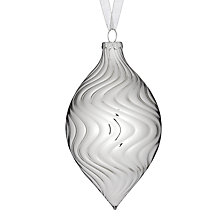 Buy John Lewis Swirly Teardrop Glass Decoration, Silver Online at johnlewis.com