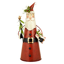 Buy John Lewis Tin Santa, Red Online at johnlewis.com