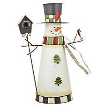 Buy John Lewis Tin Snowman, White Online at johnlewis.com
